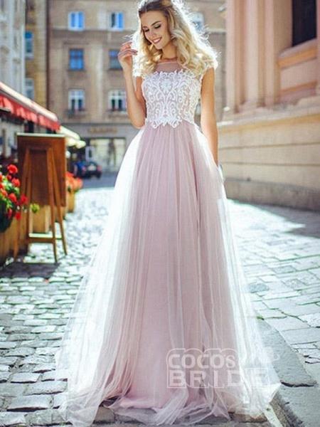 Romantic Off- the-Shoulder Lace Appliques A-Line Wedding Dresses_2