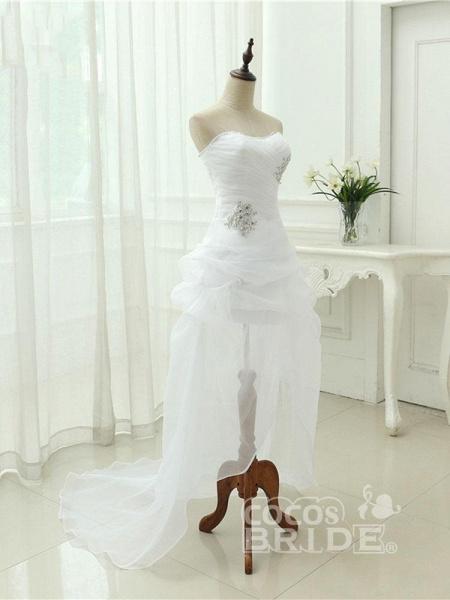 Elegant Off-the-Shoulder Crystal Tulle Wedding Dresses_4