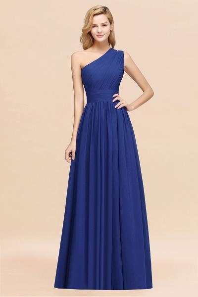 Elegant A-Line Burgundy Chiffon One-Shoulder Sleeveless Ruffles Floor-Length Bridesmaid Dresses_26