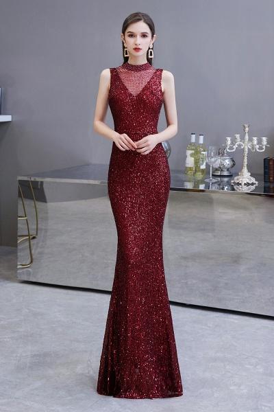 Gorgeous Mermaid Burgundy Sequins Long Prom Dress_2