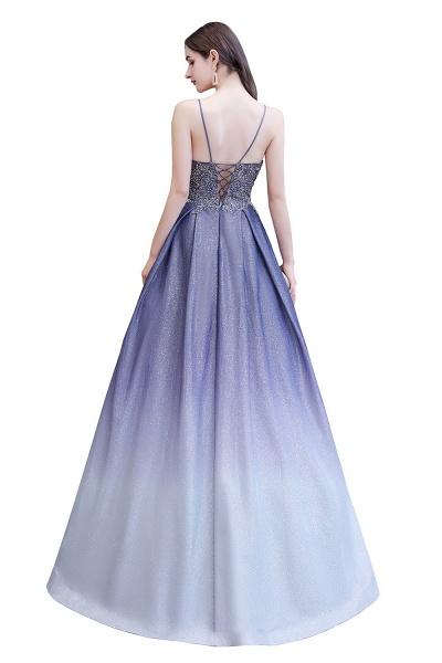 Elegant Spaghetti Straps Appliques Beads Ombre Prom Dress_15