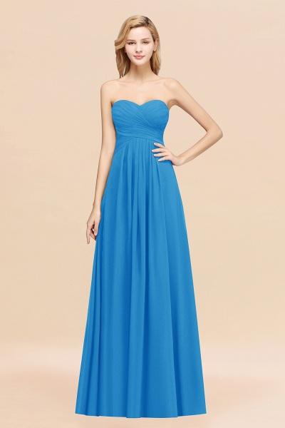 A-line Chiffon Sweetheart Strapless Ruffles Floor-length Bridesmaid Dress_25