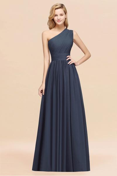 Elegant A-Line Burgundy Chiffon One-Shoulder Sleeveless Ruffles Floor-Length Bridesmaid Dresses_39