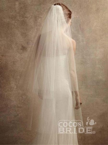 Elegant Bateau Long Sleeves Lace Ball Gown Wedding Dresses_3