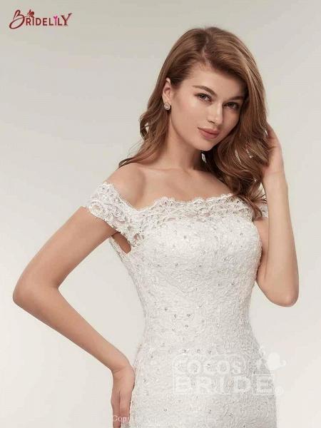 Off-The-Shoulder Bateau Mermaid Wedding Dresses_5