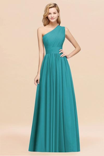 Elegant A-Line Burgundy Chiffon One-Shoulder Sleeveless Ruffles Floor-Length Bridesmaid Dresses_32