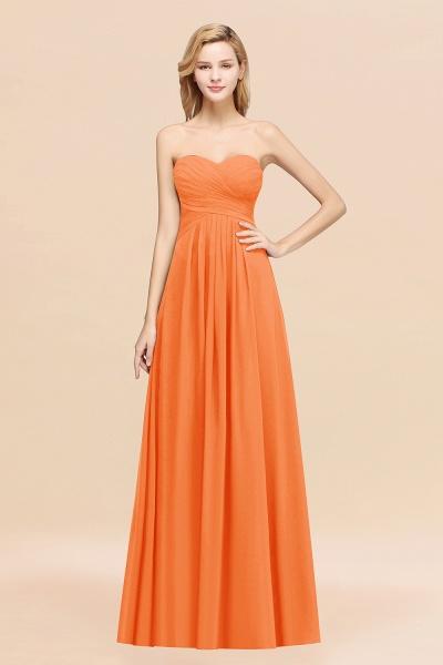 A-line Chiffon Sweetheart Strapless Ruffles Floor-length Bridesmaid Dress_15