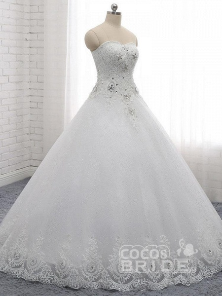 Gorgeous Sweetheart Appliques Ball Gown Wedding Dresses_2