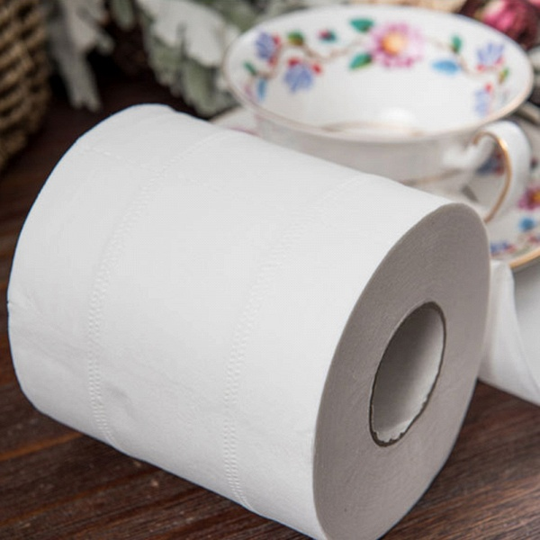 10 Roll 4ply White Toilet Paper Native Wood Pulp Tissue Hollow Replacement Roll Paper_7