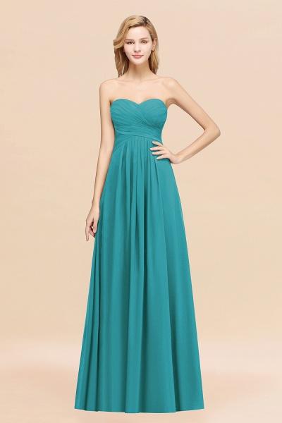 A-line Chiffon Sweetheart Strapless Ruffles Floor-length Bridesmaid Dress_32