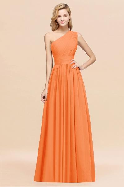 Elegant A-Line Burgundy Chiffon One-Shoulder Sleeveless Ruffles Floor-Length Bridesmaid Dresses_15