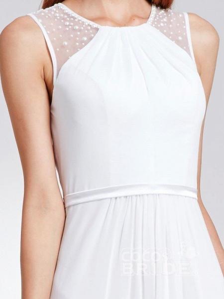 Elegant Ruffles Chiffon Floor Length Wedding Dresses_5