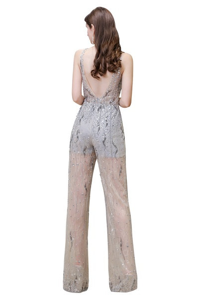 Jewel Sleeveless Tulle Evening Jumpsuit with Sequins_15