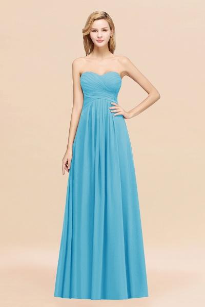 A-line Chiffon Sweetheart Strapless Ruffles Floor-length Bridesmaid Dress_24