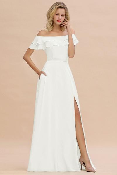 BM0775 Off-the-Shoulder Front Slit Mint Green Long Bridesmaid Dress_2