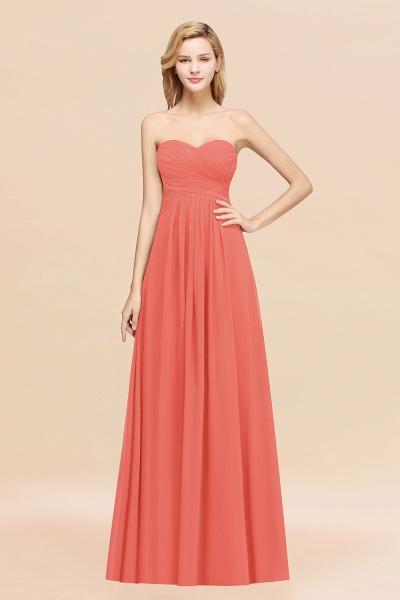 A-line Chiffon Sweetheart Strapless Ruffles Floor-length Bridesmaid Dress_7