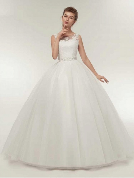 Gorgeous Lace Up Ball Gown Wedding Dresses_1