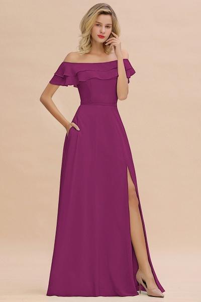 BM0775 Off-the-Shoulder Front Slit Mint Green Long Bridesmaid Dress_42