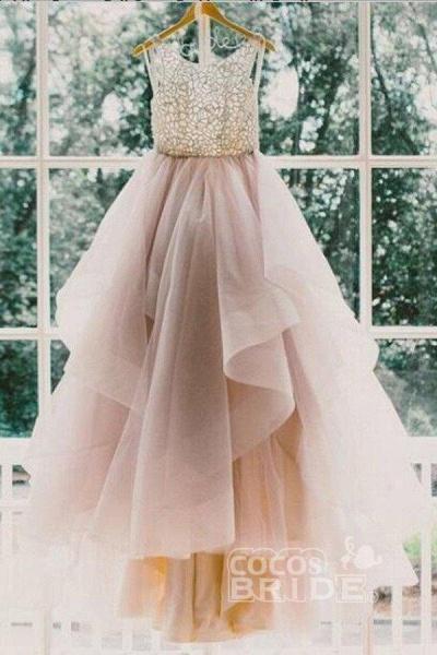 Sexy Backless A-Line Beading Long Beach Wedding Dress_4