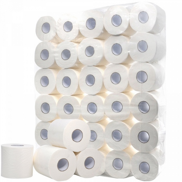 10 Roll 4ply White Toilet Paper Native Wood Pulp Tissue Hollow Replacement Roll Paper_17