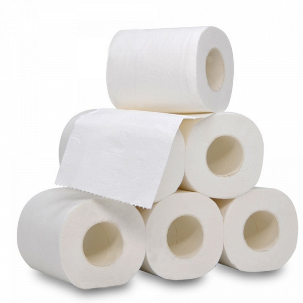 10 Roll 4ply White Toilet Paper Native Wood Pulp Tissue Hollow Replacement Roll Paper_4