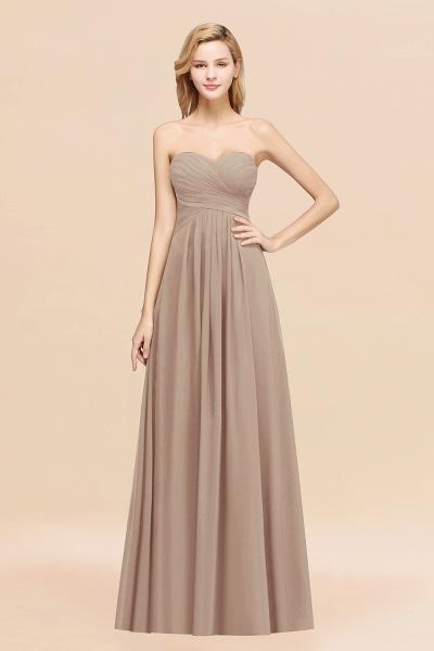 A-line Chiffon Sweetheart Strapless Ruffles Floor-length Bridesmaid Dress_16