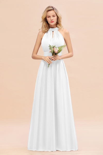 BM0758 Glamorous High-Neck Halter Bridesmaid Affordable Dresses with Ruffle_1