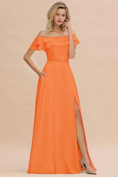 BM0775 Off-the-Shoulder Front Slit Mint Green Long Bridesmaid Dress_15