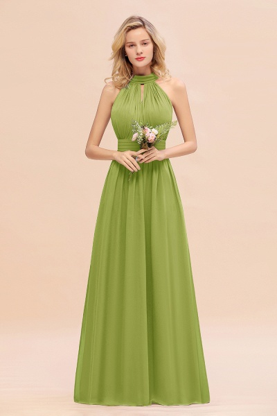 BM0758 Glamorous High-Neck Halter Bridesmaid Affordable Dresses with Ruffle_34