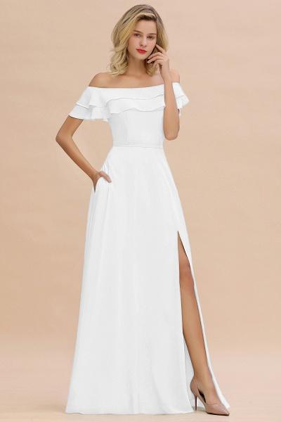 BM0775 Off-the-Shoulder Front Slit Mint Green Long Bridesmaid Dress_1
