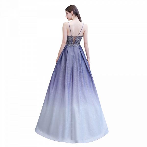 Elegant Spaghetti Straps Appliques Beads Ombre Prom Dress_11