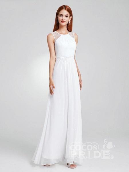 Elegant Ruffles Chiffon Floor Length Wedding Dresses_3