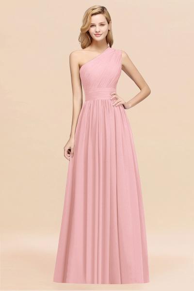 Elegant A-Line Burgundy Chiffon One-Shoulder Sleeveless Ruffles Floor-Length Bridesmaid Dresses_4