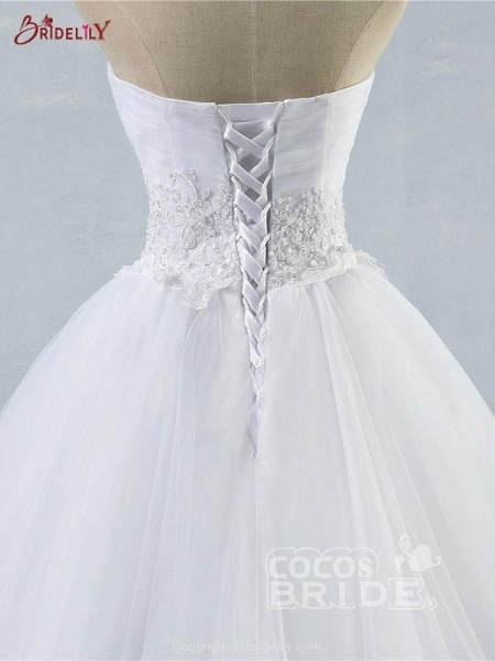 Gorgeous Sweetheart Cathedral Ball Gown Wedding Dresses_5