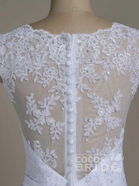 Elegant Jewel Lace Ball Gown Wedding Dresses_5