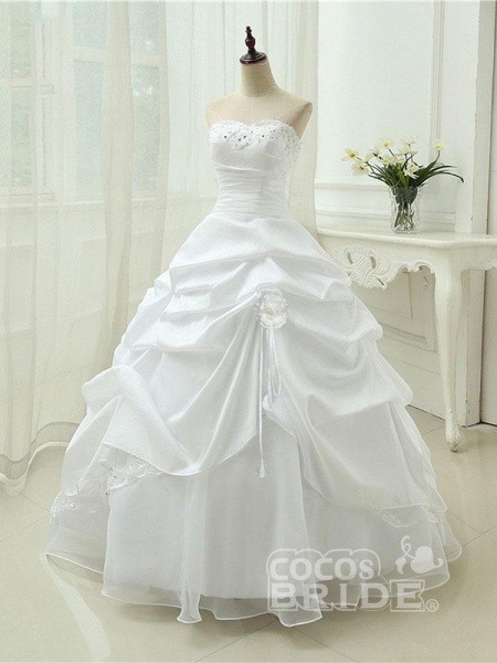 Gorgeous Sweetheart Beaded Ball Gowns Lace-Up Wedding Dresses_3