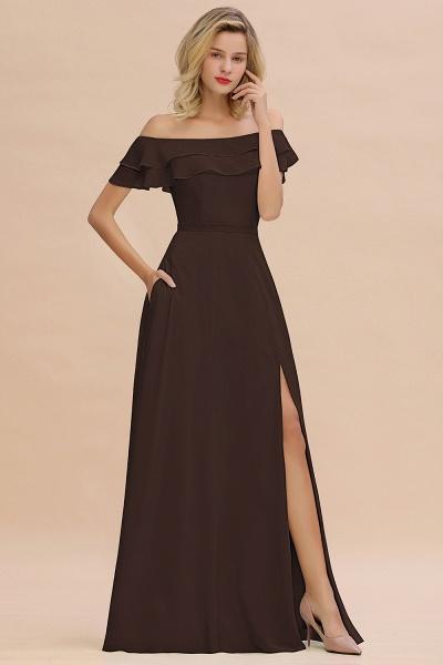 BM0775 Off-the-Shoulder Front Slit Mint Green Long Bridesmaid Dress_11
