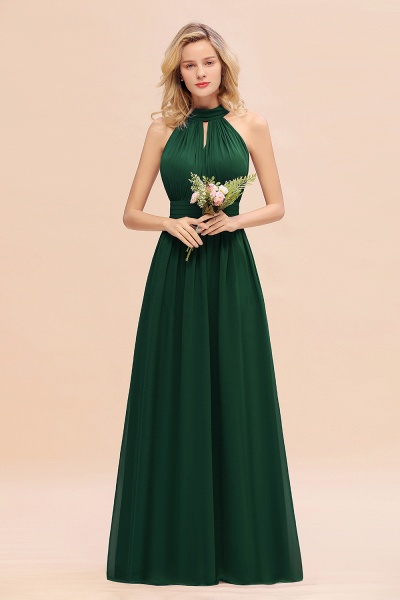 BM0758 Glamorous High-Neck Halter Bridesmaid Affordable Dresses with Ruffle_31