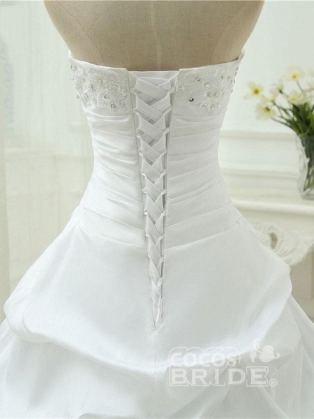 Gorgeous Sweetheart Beaded Ball Gowns Lace-Up Wedding Dresses_5