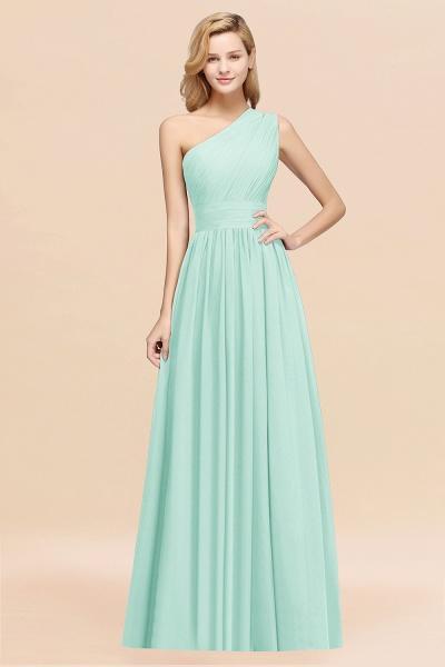 Elegant A-Line Burgundy Chiffon One-Shoulder Sleeveless Ruffles Floor-Length Bridesmaid Dresses_36
