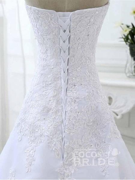 Elegant Sweetheart Lace-Up Mermaid A-Line Wedding Dresses_6