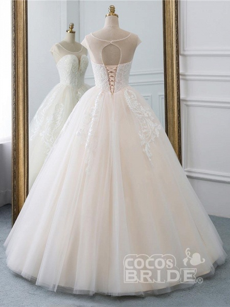 Lace-Up Ball Gown Wedding Dresses_3