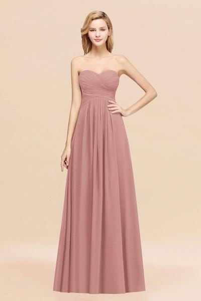 A-line Chiffon Sweetheart Strapless Ruffles Floor-length Bridesmaid Dress_50