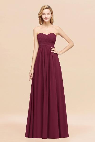 A-line Chiffon Sweetheart Strapless Ruffles Floor-length Bridesmaid Dress_44