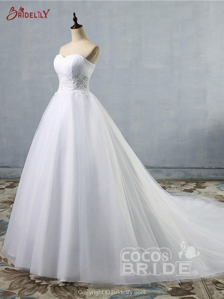 Gorgeous Sweetheart Cathedral Ball Gown Wedding Dresses_4