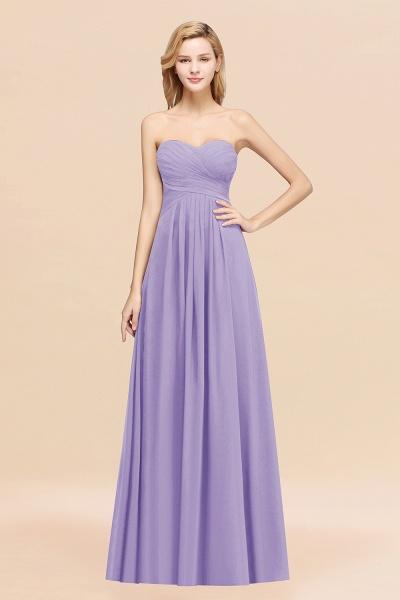 A-line Chiffon Sweetheart Strapless Ruffles Floor-length Bridesmaid Dress_21