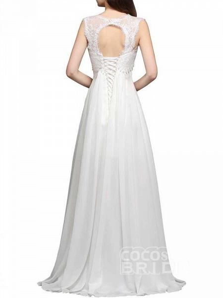 Elegant Square Beaded Ruffles Wedding Dresses_6