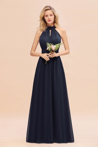 BM0758 Glamorous High-Neck Halter Bridesmaid Affordable Dresses with Ruffle_28
