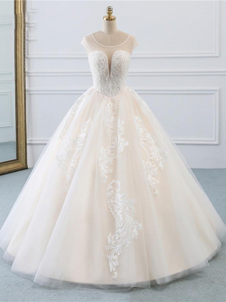 Lace-Up Ball Gown Wedding Dresses_1