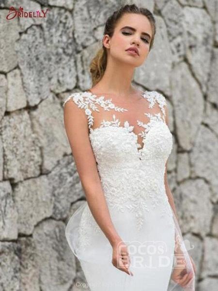 Gorgeous Mermaid Tulle Wedding Dresses_3